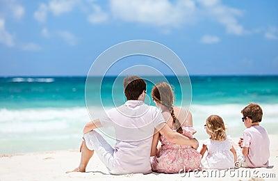 Family on Caribbean vacation