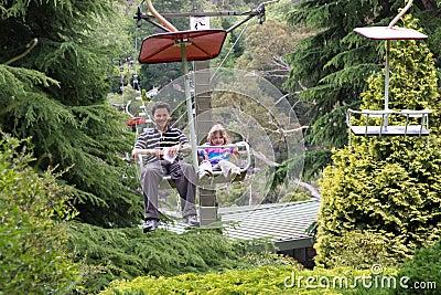 Family chair lift fun