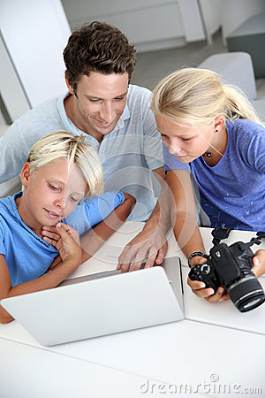 Family checking on image shots