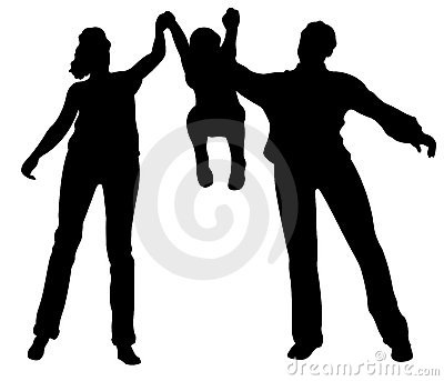 Family with child up vector