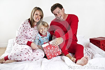 Family on Christmas morning
