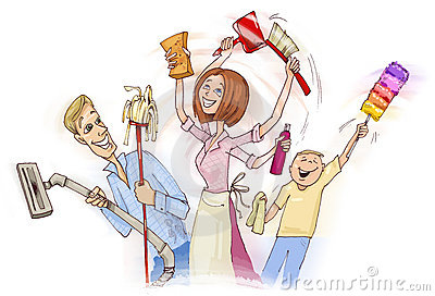 Family cleaning