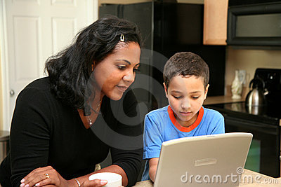 Family on Computer