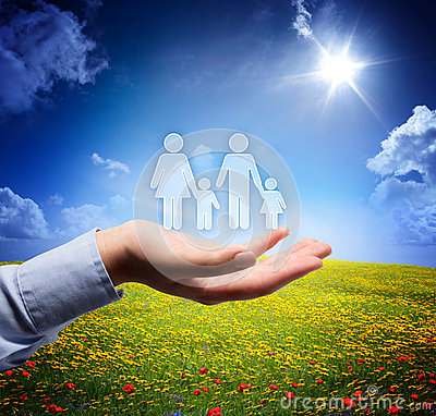 Free Family Concept In Your Hand Stock Images - 34917964