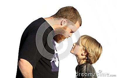 family Confrontation, defiant child