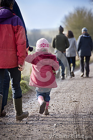 Family country walk