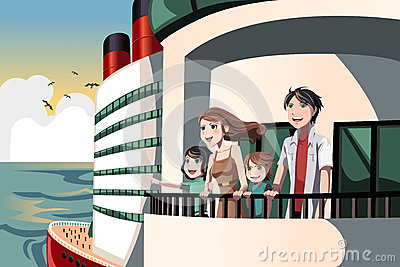 Family on a cruise trip
