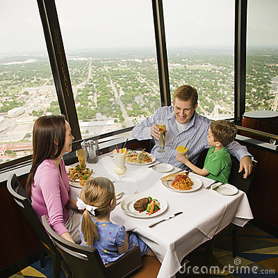 Free Family Dinner. Royalty Free Stock Photography - 2850447