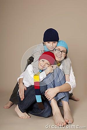 Free Family During Christmas Stock Photo - 28266450
