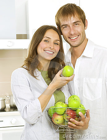 Free Family Eating Apples Stock Image - 20332501