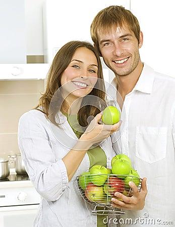 Family Eating Apples