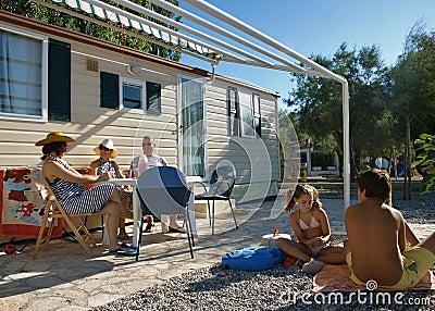 Family enjoy on summer vacation 1