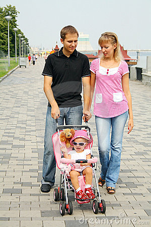 Family enjoying day out
