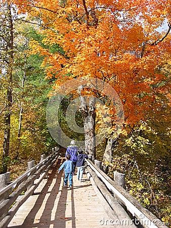 Family Enjoying Fall Colors