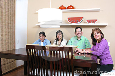 Family enjoying mealtime