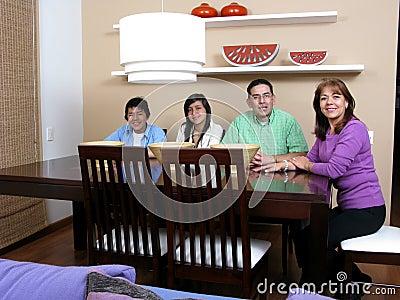 Family enjoying mealtime