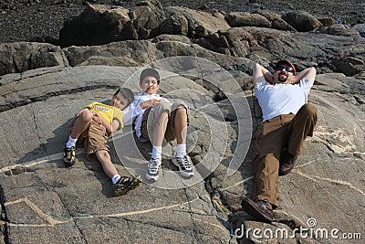 Family Enjoying a Summer Day