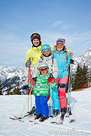 Family enjoying winter vacations stock photo image for Best family winter vacations