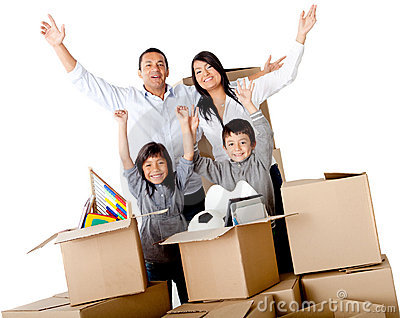 Family excited moving house