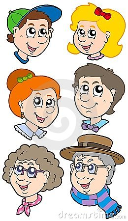 Family faces collection