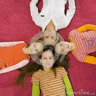 Family on the floor