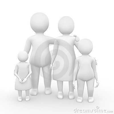 Family of four members