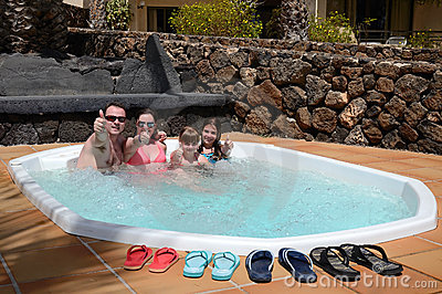 Family fun with jacuzzi