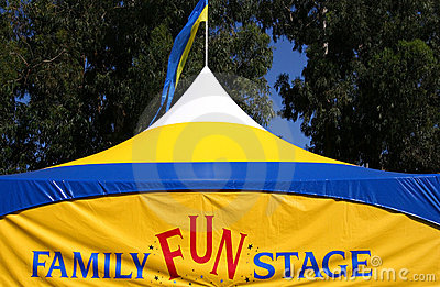 Family Fun Stage Tent