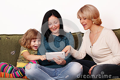 Family fun with tablet pc