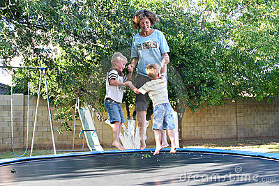 Family Fun on the Trampoline
