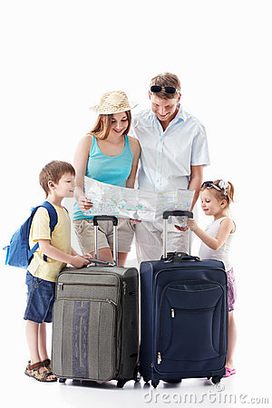 Free Family Going On Vacation Royalty Free Stock Image - 19385766