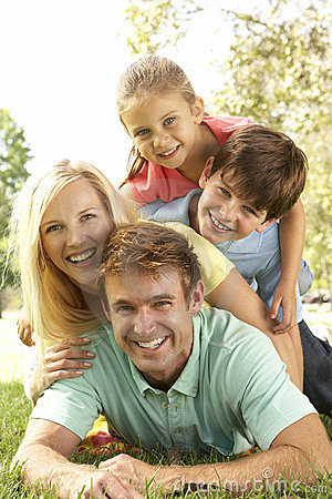 Free Family Group Having Fun In Park Stock Image - 11502051