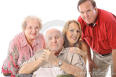 Family with handicap father