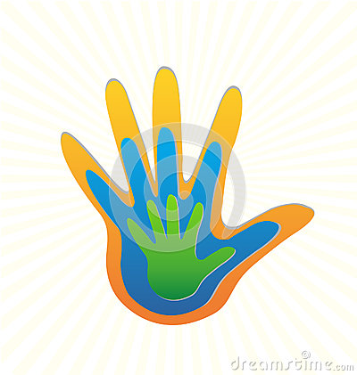 Family hands protection