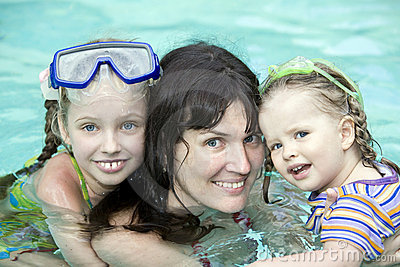 Family Have Rest In Swimming Pool. Royalty Free Stock Images - Image: 9378239