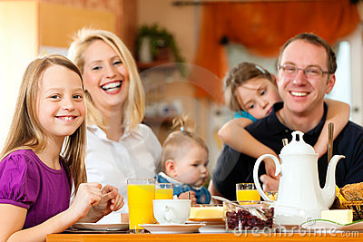 Family Having Breakfast Stock Images - Image: 18543514