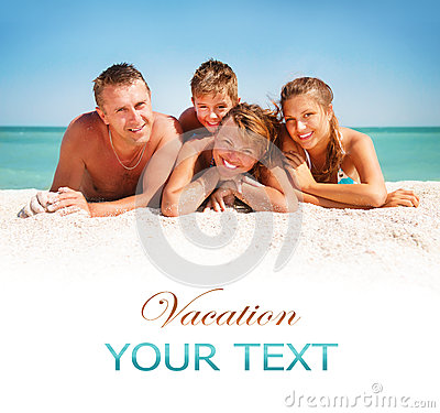 Free Family Having Fun At The Beach Stock Photos - 32693593