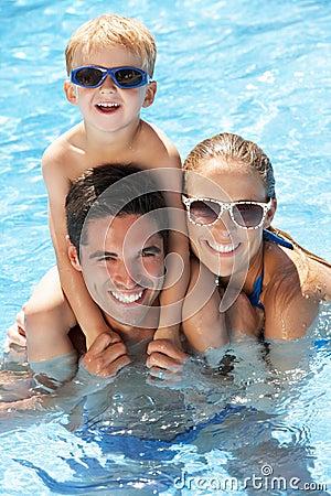 Free Family Having Fun In Swimming Pool Stock Photos - 27706023
