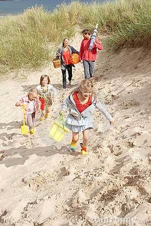 Free Family Having Fun On Beach Vacation Stock Images - 22778454