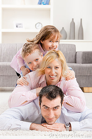 Free Family Heap At Home Royalty Free Stock Photo - 10645545