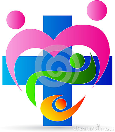 Family heart care clinic logo