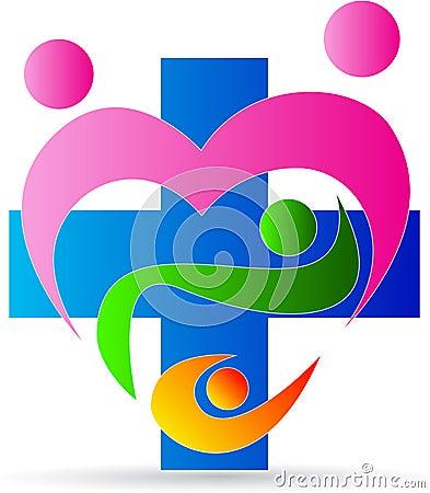 Family heart care clinic logo