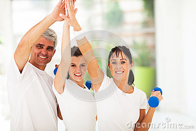 Family high five