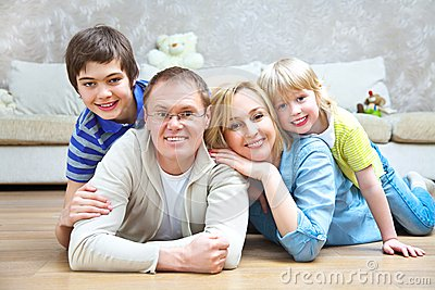 Family at home