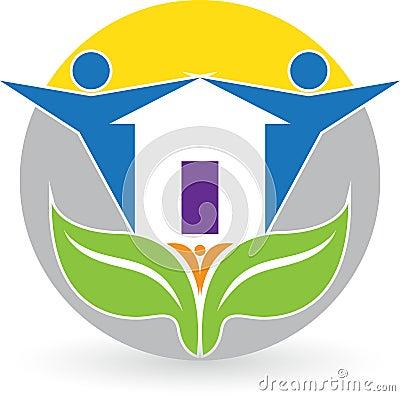 Family home logo