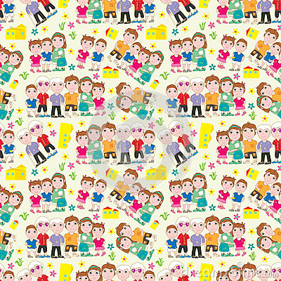 Family Home Seamless Pattern_eps