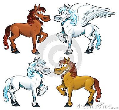 Family of horses + 1 Pegasus.