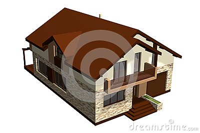 Family House 3D Render