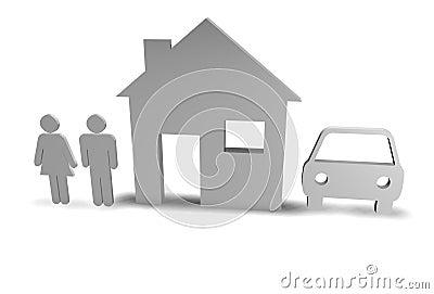 Family + House + Car