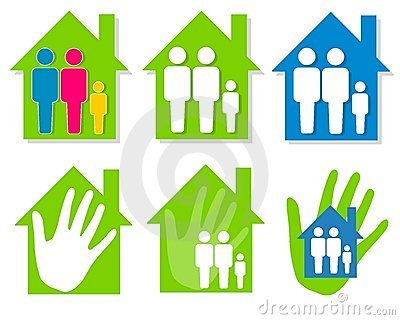 house clipart image. FAMILY AND HOUSE CLIP ART